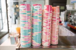 כוסות גלידה צבעוניות
