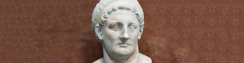 תלמי הראשון מלך מצרים כובש את יפו - פסל ראש