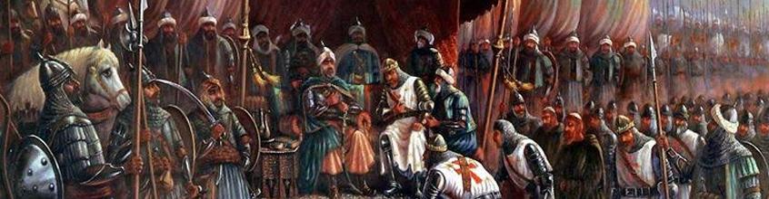 ציור - סלאח א-דין כובש את יפו מידי הצלבנים