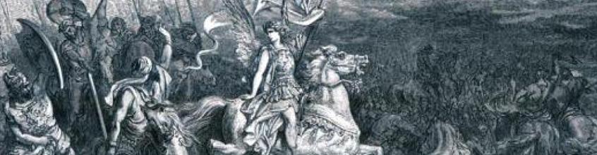 ציור - יהודה המכבי שורף את נמל יפו בשלטון החשמונאים