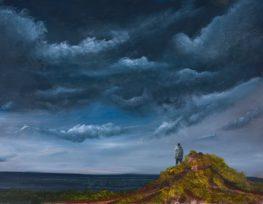 אמנון יוהס- ציור איש צופה אל האופק
