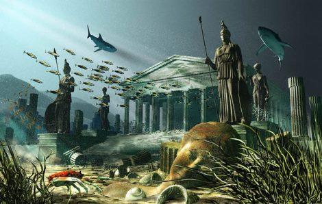 אטלנטיס האגדית שוכנת בקרקעית הים ממתינה שימצאו אותה