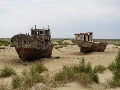 ספינות על חול בעת שפל