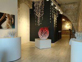 גלריה נוקס ובה פריטים מתערוכה של צורי גואטה