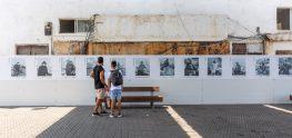התערוכה כפי שהיא מוצבת בנמל יפו